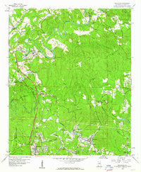 Brookside Alabama Historical topographic map, 1:24000 scale, 7.5 X 7.5 Minute, Year 1959