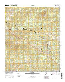 Camp Hill Alabama Current topographic map, 1:24000 scale, 7.5 X 7.5 Minute, Year 2014