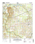 Cantelous Alabama Current topographic map, 1:24000 scale, 7.5 X 7.5 Minute, Year 2014 from Alabama Map Store