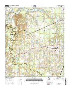 Cantelous Alabama Current topographic map, 1:24000 scale, 7.5 X 7.5 Minute, Year 2014