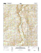 Capshaw Alabama Current topographic map, 1:24000 scale, 7.5 X 7.5 Minute, Year 2014 from Alabama Map Store