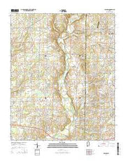 Capshaw Alabama Current topographic map, 1:24000 scale, 7.5 X 7.5 Minute, Year 2014 from Alabama Maps Store