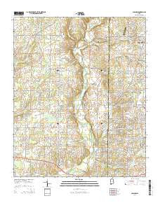 Capshaw Alabama Current topographic map, 1:24000 scale, 7.5 X 7.5 Minute, Year 2014