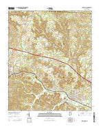 Carbon Hill Alabama Current topographic map, 1:24000 scale, 7.5 X 7.5 Minute, Year 2014 from Alabama Map Store