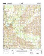 Casemore Alabama Current topographic map, 1:24000 scale, 7.5 X 7.5 Minute, Year 2014 from Alabama Map Store