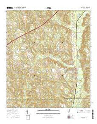 Castleberry Alabama Current topographic map, 1:24000 scale, 7.5 X 7.5 Minute, Year 2014