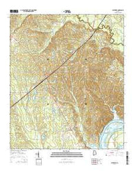 Catherine Alabama Current topographic map, 1:24000 scale, 7.5 X 7.5 Minute, Year 2014