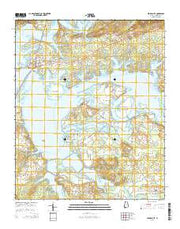 Cedar Bluff Alabama Current topographic map, 1:24000 scale, 7.5 X 7.5 Minute, Year 2014 from Alabama Maps Store