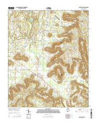 Center Grove Alabama Current topographic map, 1:24000 scale, 7.5 X 7.5 Minute, Year 2014