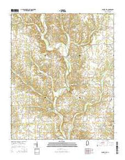 Center Hill Alabama Current topographic map, 1:24000 scale, 7.5 X 7.5 Minute, Year 2014 from Alabama Maps Store
