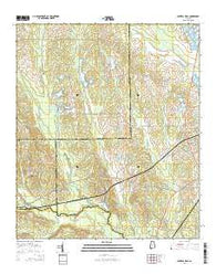 Central Mills Alabama Current topographic map, 1:24000 scale, 7.5 X 7.5 Minute, Year 2014