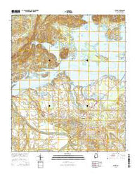 Centre Alabama Current topographic map, 1:24000 scale, 7.5 X 7.5 Minute, Year 2014
