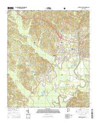 Centreville West Alabama Current topographic map, 1:24000 scale, 7.5 X 7.5 Minute, Year 2014