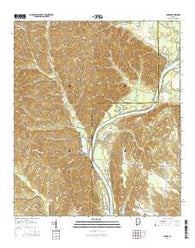 Chance Alabama Current topographic map, 1:24000 scale, 7.5 X 7.5 Minute, Year 2014