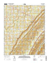Chavies Alabama Current topographic map, 1:24000 scale, 7.5 X 7.5 Minute, Year 2014