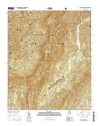 Cheaha Mountain Alabama Current topographic map, 1:24000 scale, 7.5 X 7.5 Minute, Year 2014
