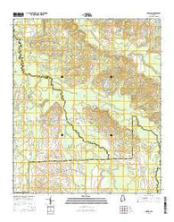 Chesson Alabama Current topographic map, 1:24000 scale, 7.5 X 7.5 Minute, Year 2014