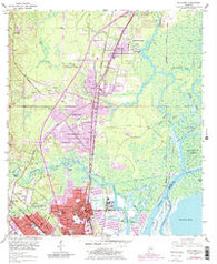 Chickasaw Alabama Historical topographic map, 1:24000 scale, 7.5 X 7.5 Minute, Year 1953