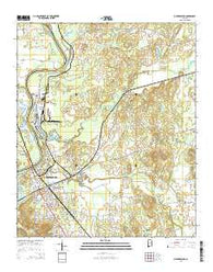 Childersburg Alabama Current topographic map, 1:24000 scale, 7.5 X 7.5 Minute, Year 2014