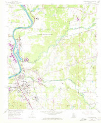 Childersburg Alabama Historical topographic map, 1:24000 scale, 7.5 X 7.5 Minute, Year 1958