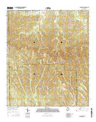 China Grove Alabama Current topographic map, 1:24000 scale, 7.5 X 7.5 Minute, Year 2014