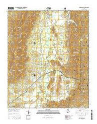 Choccolocco Alabama Current topographic map, 1:24000 scale, 7.5 X 7.5 Minute, Year 2014