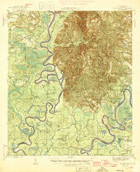 Choctaw Bluff Alabama Historical topographic map, 1:62500 scale, 15 X 15 Minute, Year 1946