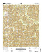 Citronelle East Alabama Current topographic map, 1:24000 scale, 7.5 X 7.5 Minute, Year 2014 from Alabama Map Store
