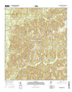 Citronelle West Alabama Current topographic map, 1:24000 scale, 7.5 X 7.5 Minute, Year 2014 from Alabama Map Store