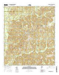 Citronelle West Alabama Current topographic map, 1:24000 scale, 7.5 X 7.5 Minute, Year 2014