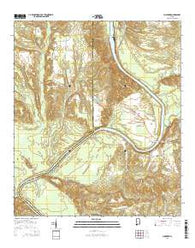 Claiborne Alabama Current topographic map, 1:24000 scale, 7.5 X 7.5 Minute, Year 2014