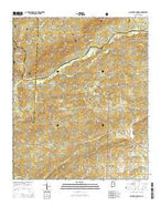 Clairmont Springs Alabama Current topographic map, 1:24000 scale, 7.5 X 7.5 Minute, Year 2014 from Alabama Map Store