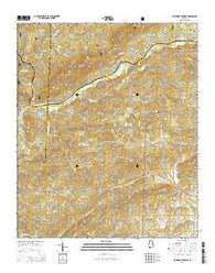 Clairmont Springs Alabama Current topographic map, 1:24000 scale, 7.5 X 7.5 Minute, Year 2014