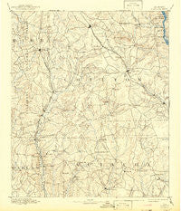 Clanton Alabama Historical topographic map, 1:125000 scale, 30 X 30 Minute, Year 1891