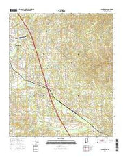 Clanton East Alabama Current topographic map, 1:24000 scale, 7.5 X 7.5 Minute, Year 2014 from Alabama Maps Store