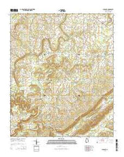 Clarence Alabama Current topographic map, 1:24000 scale, 7.5 X 7.5 Minute, Year 2014 from Alabama Maps Store