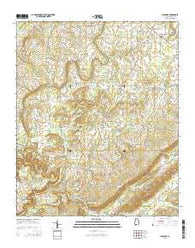 Clarence Alabama Current topographic map, 1:24000 scale, 7.5 X 7.5 Minute, Year 2014