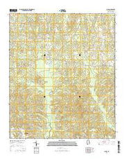 Claud Alabama Current topographic map, 1:24000 scale, 7.5 X 7.5 Minute, Year 2014 from Alabama Maps Store