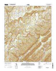 Cleveland Alabama Current topographic map, 1:24000 scale, 7.5 X 7.5 Minute, Year 2014