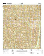 Clio Alabama Current topographic map, 1:24000 scale, 7.5 X 7.5 Minute, Year 2014 from Alabama Map Store