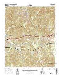 Coaling Alabama Current topographic map, 1:24000 scale, 7.5 X 7.5 Minute, Year 2014