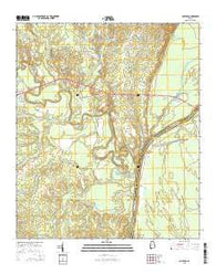 Coatopa Alabama Current topographic map, 1:24000 scale, 7.5 X 7.5 Minute, Year 2014