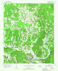 Cordova Alabama Historical topographic map, 1:24000 scale, 7.5 X 7.5 Minute, Year 1949