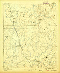 Cullman Alabama Historical topographic map, 1:125000 scale, 30 X 30 Minute, Year 1888