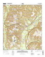 Daleville Alabama Current topographic map, 1:24000 scale, 7.5 X 7.5 Minute, Year 2014 from Alabama Map Store