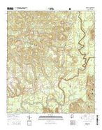 Damascus Alabama Current topographic map, 1:24000 scale, 7.5 X 7.5 Minute, Year 2014 from Alabama Map Store