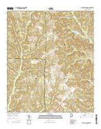 Danleys Crossroads Alabama Current topographic map, 1:24000 scale, 7.5 X 7.5 Minute, Year 2014 from Alabama Map Store