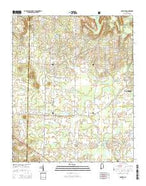 Danville Alabama Current topographic map, 1:24000 scale, 7.5 X 7.5 Minute, Year 2014 from Alabama Map Store