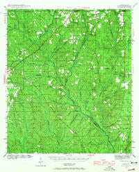 Dyas Alabama Historical topographic map, 1:62500 scale, 15 X 15 Minute, Year 1942