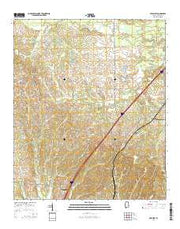 Epes West Alabama Current topographic map, 1:24000 scale, 7.5 X 7.5 Minute, Year 2014 from Alabama Maps Store